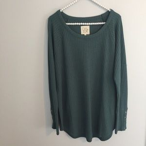 Chaser Green Thermal Long Sleeve Top